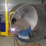 Schweissarbeit im Tankinnern