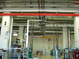 Rohreltungen zum Transprot von Kühlwasser und Spänen