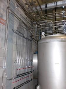 Stickstoffverrohrung Lagertanks